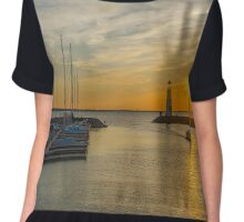 Lake Hefner,Oklahoma City USA Chiffon Top