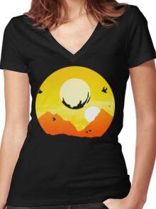 Exotic Traveller Women's Fitted V-Neck T-Shirt