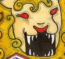 Strength Lion Tarot Card Sticker