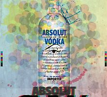 Absolut CMYK Vodka by leighlewton