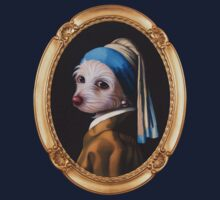 The Dog With the Pearl Earring (Gold Frame) Baby Tee