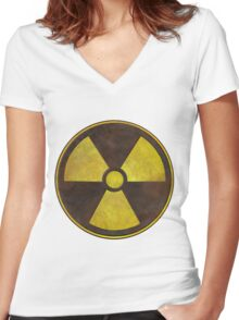 Radioactive Geek Gamer Women's Fitted V-Neck T-Shirt