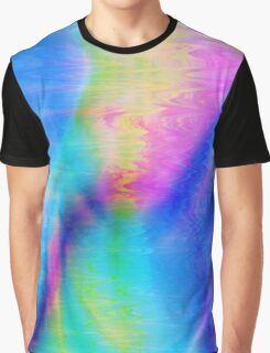 Blue Abstract Graphic T-Shirt