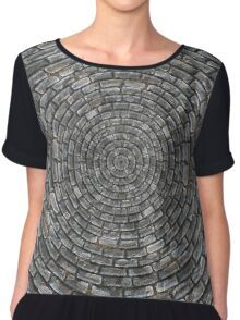 gray brick spiral Chiffon Top