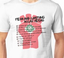 Fear and Loathing in Las Vegas checklist Unisex T-Shirt