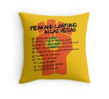 Fear and Loathing in Las Vegas checklist Throw Pillow