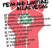Fear and Loathing in Las Vegas checklist by Alien Axioms