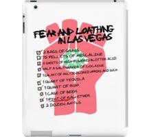 Fear and Loathing in Las Vegas checklist iPad Case/Skin