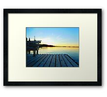 dock at sunset  Framed Print