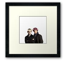 BBC Sherlock- Sherlock and John Flower Crowns  Framed Print