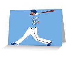 Eric Hosmer Swing Art Greeting Card