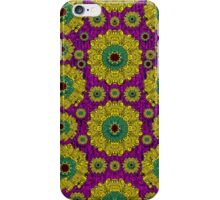Sunroses mixed with stars in a moonlight serenade iPhone Case/Skin