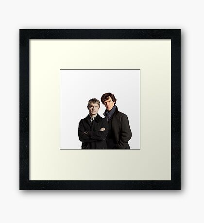 BBC Sherlock- John And Sherlock Framed Print