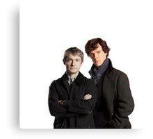 BBC Sherlock- John And Sherlock Canvas Print