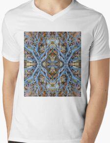 Painted Hills Desert King Motif Mens V-Neck T-Shirt