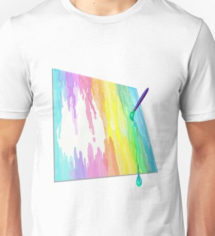 Painting in the rain! Unisex T-Shirt
