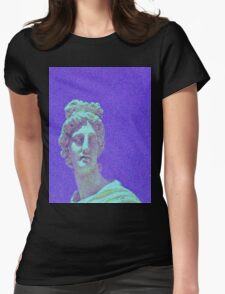 Screen Lines Statue Womens Fitted T-Shirt