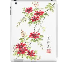 Red Blossoms  iPad Case/Skin