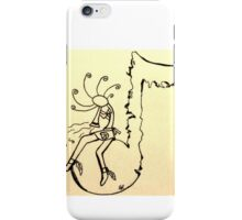 Kokopelli music player iPhone Case/Skin