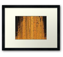 Wood Pattern Framed Print