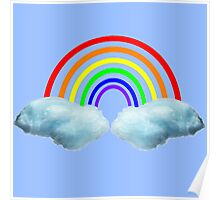 Cotton Candy Rainbow Poster