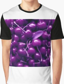 Purple Cherries Graphic T-Shirt