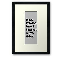 Team Tony... Framed Print