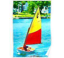 Small Boat Fun Poster