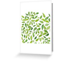 Tumblr Leaves  Greeting Card