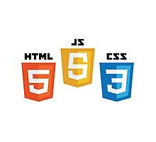 HTML5, CSS3, JS Photographic Print