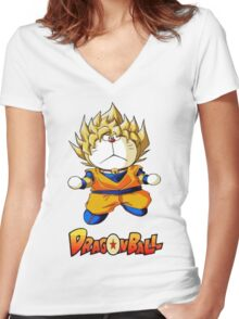 funny dragon Women's Fitted V-Neck T-Shirt
