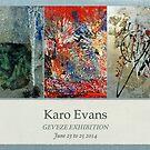 Exhibition in GEVEZE near Rennes Brittany by Karo / Caroline Evans (Caux-Evans)