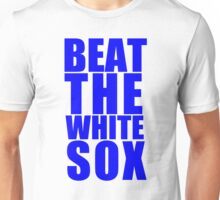 Chicago Cubs - BEAT THE WHITE SOX - Blue Text Unisex T-Shirt