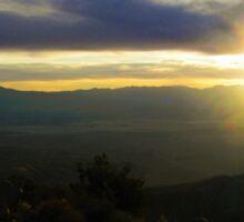 Sunset Over Coachella Valley  Sticker