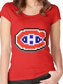 Go Habs Go ! Pixels Women's Fitted Scoop T-Shirt