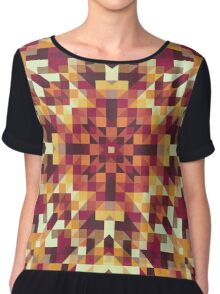 Playful Geometry 001 Chiffon Top