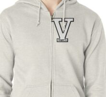 Vendetta Letterman (for zip hoodie) Zipped Hoodie