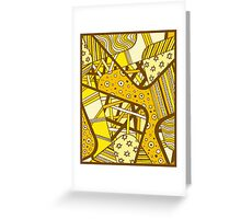 Miniature Aussie Tangle 12 Golden Summer  Greeting Card