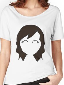 Borwn Haired Chibi Women's Relaxed Fit T-Shirt