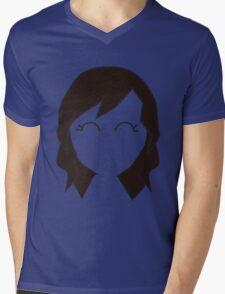 Borwn Haired Chibi Mens V-Neck T-Shirt