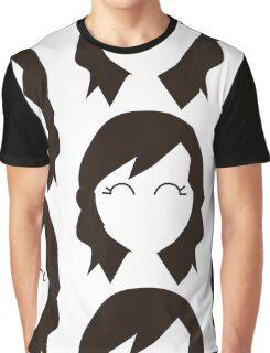 Borwn Haired Chibi Graphic T-Shirt