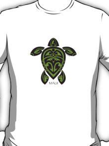 Black & Green Tribal Turtle Tattoo / Maui T-Shirt