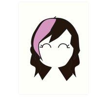 Pink Hipster Hair Art Print