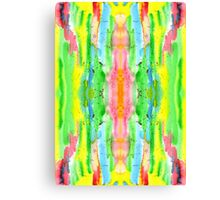 Hand-Painted Abstract Watercolor in Bright Rainbow Hues Canvas Print