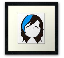 Blue Streak Hair Framed Print