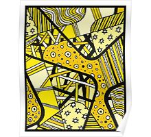 Miniature Aussie Tangle 12 Golden Summer with  Black Poster