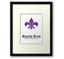 Saint's Row Framed Print