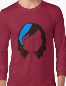 Blue Streak Hair Long Sleeve T-Shirt
