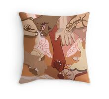 Give a Hand, We're All in This Together Throw Pillow