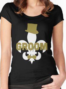 Honeymoon Groom Shirt Women's Fitted Scoop T-Shirt